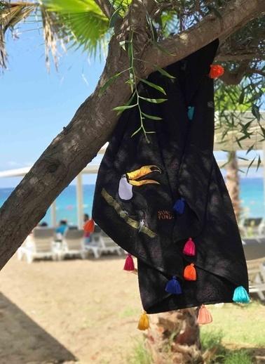 SundayFunday Plaj Havlusu Siyah